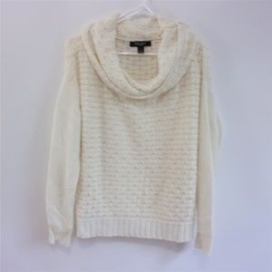 Nine West Chunky Loose Cowl Neck Sweater